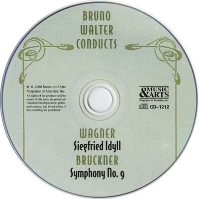 Bruno Walter conducts Wagner, Siegfried Idyll, Bruckner, Symphony no. 9