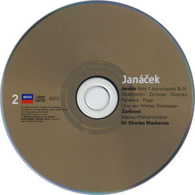CD 8-9: Kátʹa Kabanová ; Sinfonietta ; Taras Bulba
