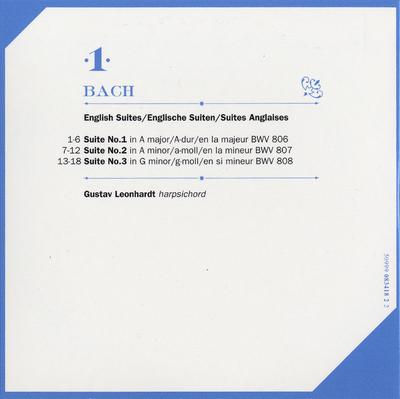 CD 1: English suites 1-3, BWV 806-808