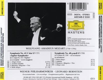 "Symphonien no. 41 KV 551 ""Jupiter"", no. 40 KV 550"
