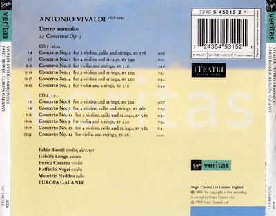 L'estro armonico 12 concertos op. 3