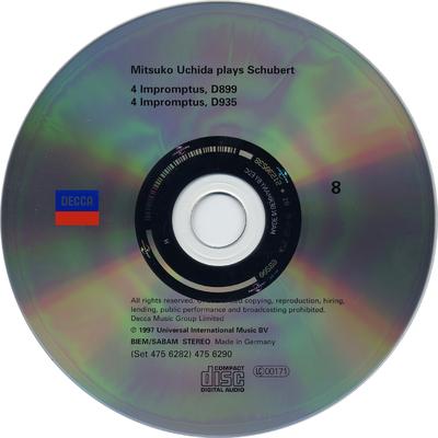CD 1: Sonata in E flat major, D568 ; Moments musicaux, D780