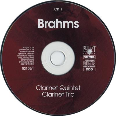 Clarinet quintet ; Clarinet trio ; Clarinet sonatas