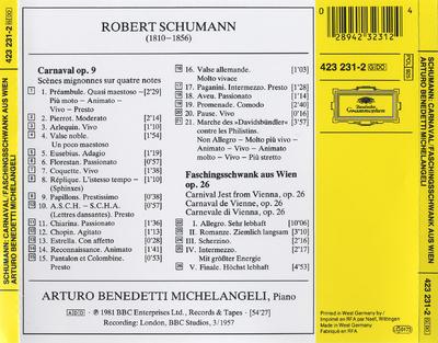 Carnaval op. 9 ; Faschingsschwank aus Wien op. 26
