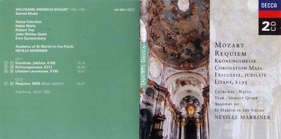 Requiem ; Kronungsmesse ; Exultate, jubilate ; Litany, K195