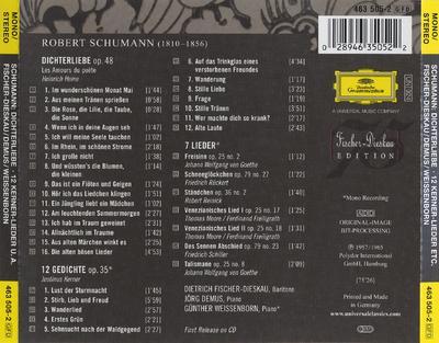 Dichterliebe ; 12 Kerner-Lieder ; Lieder