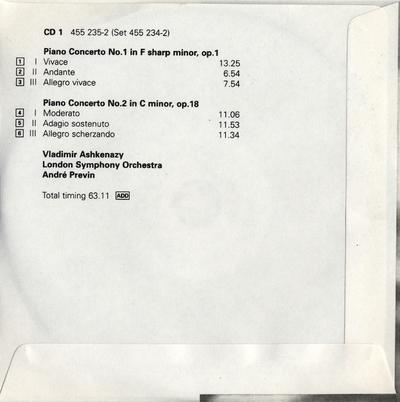 CD 6: 9 Etude tableaux, op. 39 ; Symphonic Dances for 2 pianos