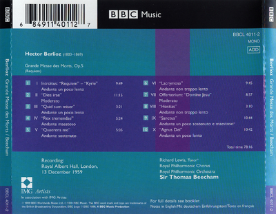 The 1959 Royal Festival Hall concert including Beethoven, Symphony no. 7 plus encores and speeches by Sir Thomas Beecham