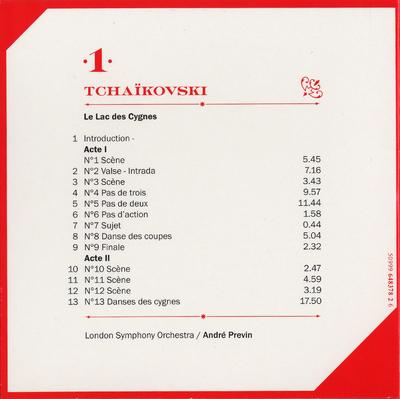 CD 1: Le lac des cygnes actes 1. & 2. (debut)