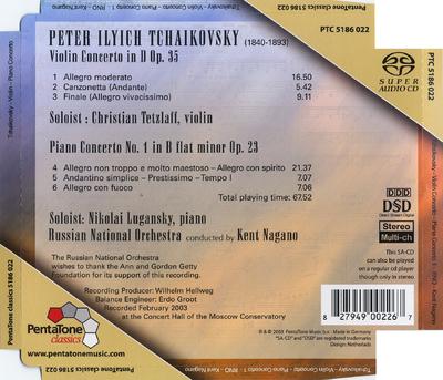 Violin concerto in D op. 35 ; Piano concerto no. 1 in B flat minor op. 23