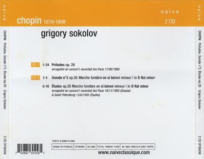 Preludes ; Sonate no. 2 ; Etudes op. 25
