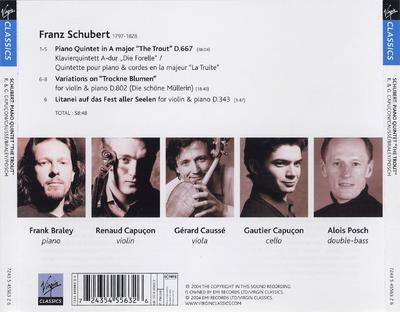 """Piano quintet """"The trout"""" ; Variations on """"Trockne Blumen"""" ; Litanei auf das Fest aller Seelen"""