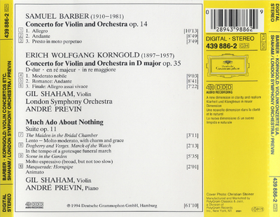 Concerto for violin and orchestra, op. 14