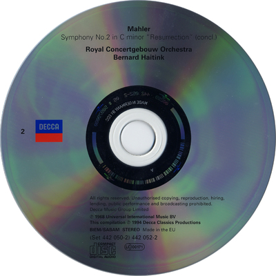 CD 4: Symphony no. 3 in D minor (concl.) ; Symphony no. 4 in G