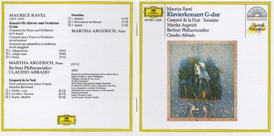 Konzert fur Klavier und Orchester ; Gaspard de la nuit ; Sonatine