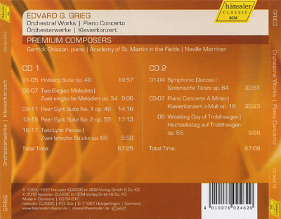 Orchestral works ; Piano concerto
