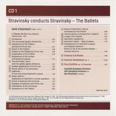 CD 1:  L'Oiseau de feu ; Scherzo à la russe ; Scherzo fantastique ; Feu d'artifice