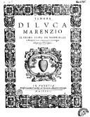 Il primo libro de madrigali a cinque voci, nouamente con ogni diligenta ristampati