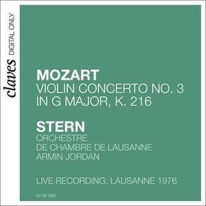 W.A. Mozart: Violin Concerto No.3 in G Major, K. 216 (Live recording, Lausanne 1976)