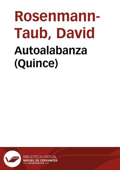 Autoalabanza (Quince)