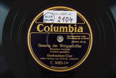 Gesang der Wolgaschiffer / Einsam klingt das kleine Glöckchen Gesang der Wolgaschiffer : russisches Volkslied