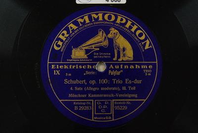 Trios, Vl Vc Kl, D 929 <4. Satz> / Auswahl