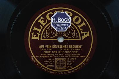 Ein deutsches Requiem / Auswahl