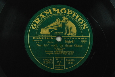 Das deutsche Lied / Nun leb' wohl, du kleine Gasse Nun leb' wohl, du kleine Gasse : In der Ferne / (Silcher)