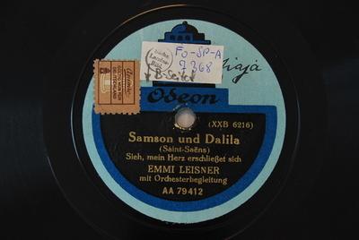 Samson et Dalila <Mon coeur s'ouvre à ta voix>
