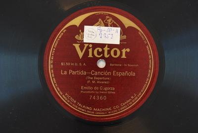 La Partida : Canción Espanola (The departure) / (F. M. Alvarez)