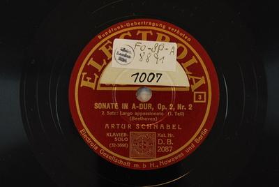 Sonaten, Kl, op. 2,2 <2. Satz> / Auswahl