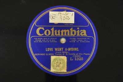 Love went a-riding / Kantaten, BWV 70 Love went a-riding / (Frank Bridge)