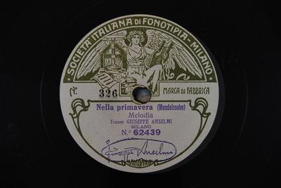Canto d'amore / Nella primavera Nella primavera : Melodia / (Mendelssohn)