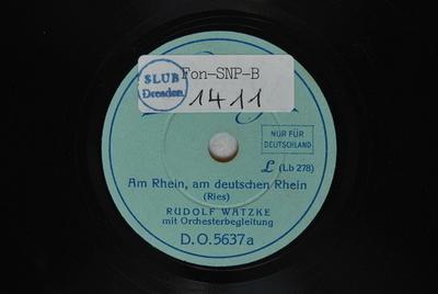 Am Rhein, am deutschen Rhein / (Ries)