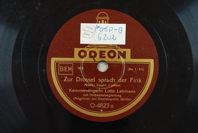 Zur Drossel sprach der Fink / Ach wer das doch könnte Zur Drossel sprach der Fink / Musik: Eugen d'Albert