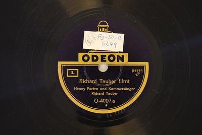 Richard Tauber filmt / Henny Porten singt Richard Tauber filmt