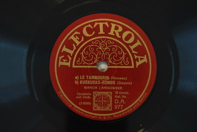 Pièces de clavecin, 1724 <Tambourin>; Pièces de clavecin <Le coucou>