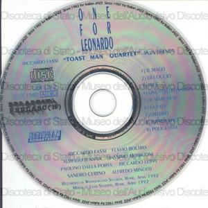 One for Leonardo / Riccardo Fassi, Toast Man Quartet plus friends ; featuring Flavio Boltro