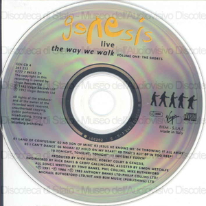 Genesis Live : the way we walk : volume one : the shorts