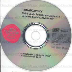 Symphony No. 3 in D / Tchaikovsky ; Saint Louis Symphony Orchestra ; Leonard Slatkin, conductor