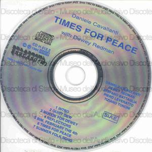 Times for peace / Daniele Cavallanti (Quartet) with Dewey Redman