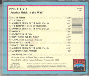 "Pink Floyd : ""Another brick in the wall"""