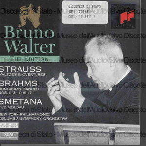 Valzer & Overtures / Strauss. Hungarian dances Nos. 1, 3, 10 & 17 / Brahms. The Moldau / Smetana ; New York Philharmonic ; Columbia Symphony Orchestra ; Bruno Walter