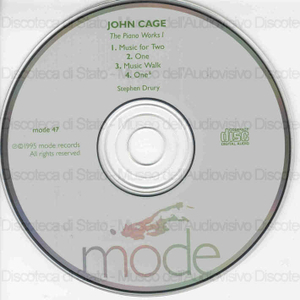 The piano works 1. / John Cage ; Stephen Drury, pianos & devices