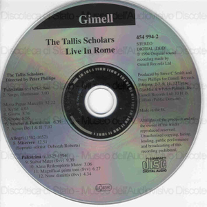The Tallis Scholars : Live in Rome / Directed by Peter Philips