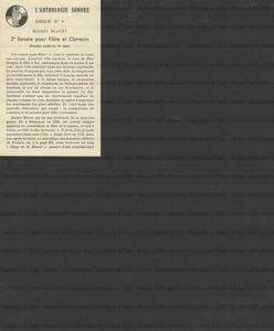 2e sonate pour flute et clavecin / Michel Blavet ; flute: M. Marcel Moyse ; clavecin: Mme Pauline Aubert ; direction musicologique Curt Sachs