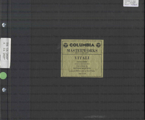 Chaconne / Vitali ; violin solo by Nathan Milstein ; Leopold Mittman at the piano