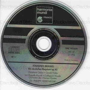 Ein deutsches Requiem op. 45 / J. Brahms ; Philippe Herreweghe, dir ; C. Oelze ; G. Finley ; La Chapelle Royale ; Collegium Vocale ; Orchestre de Champs Elysees