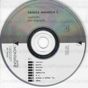 Iannis Xenakis 1 : Chamber Music 1955-1990 / Claude Helffer ; Arditti string quartet