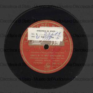 """Sonata in """"Re minore"""" senz'accompagnamento / Bach ; Adolfo Busch, violinista"""